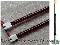 220v 1000w Heraeus Tubular Medium Wave IR Emitter Ruby Red Glass Quartz Bulb Infrared Halogen Lamp