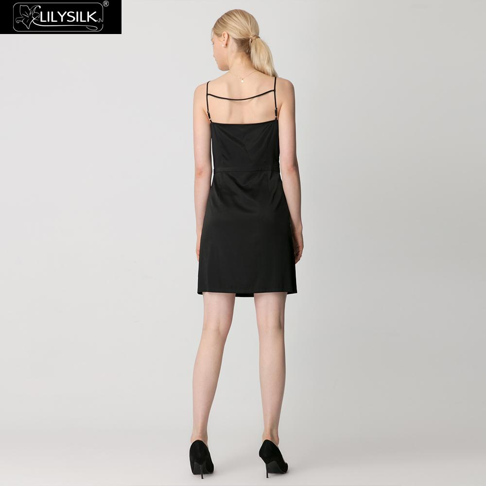 Femmes Robe 19mm Extensible claret Gratuite Dames Cami Liquidation Black Lilysilk Soie Livraison wxBZxf