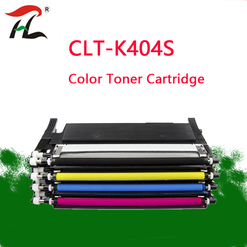 YLC CLT K404 For Compatible Samsung CLT 404 K404S CLT K404S CLT Y404S CLT M404S CLT C404S Laser Color Toner Cartridge-in Toner Cartridges from Computer & Office