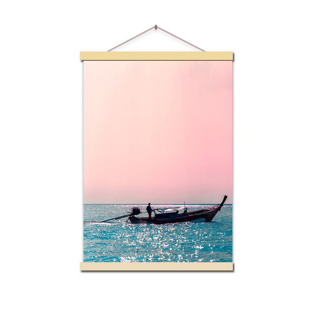 HTB1.rV XinrK1Rjy1Xcq6yeDVXaT Canvas Painting Beach Ship Sea Wall Art Nordic Posters And Prints Pineapple Home Decoration Pictures For Living Room