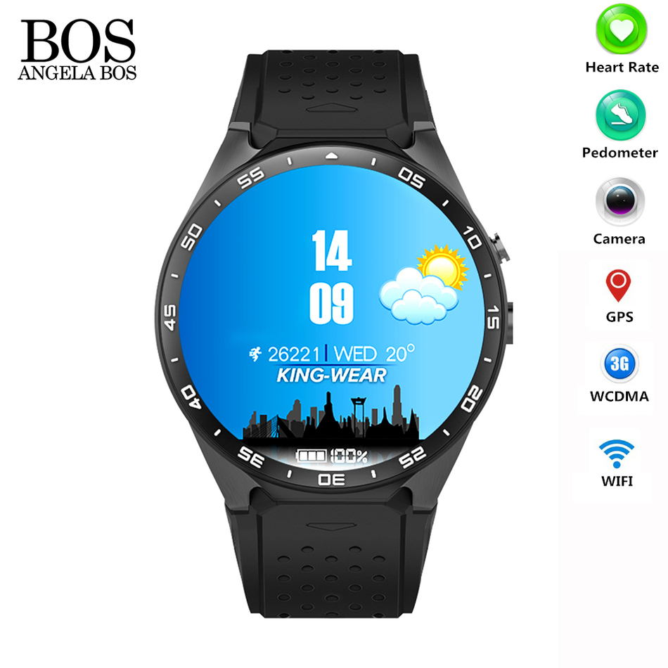 Smart Watch 2016 3G Mobile Phone Map Gps Tracker Camera font b Smartwatch b font Heart