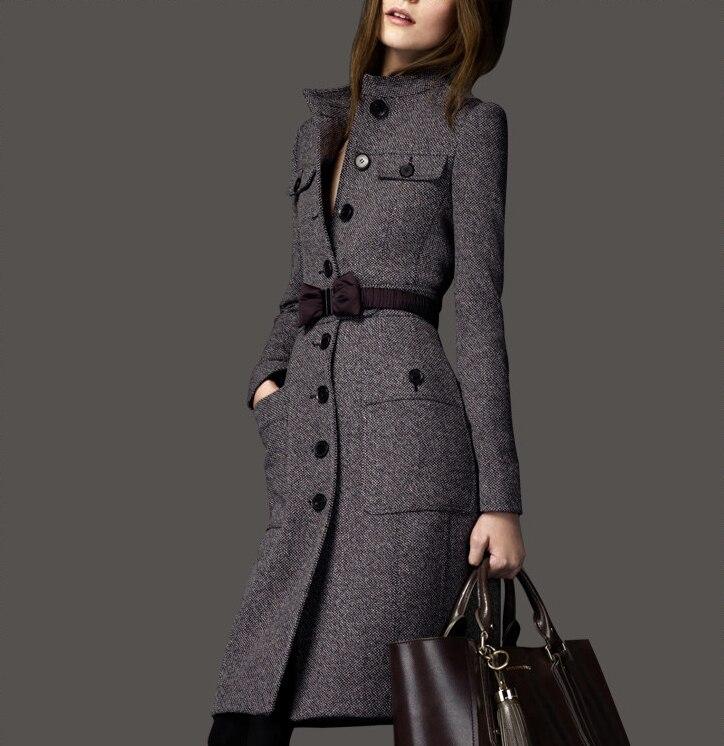 long Survêtement Moyen Plus Pardessus Smoky Manteau Mode 2017 Hiver Cachemire Slim Laine De Grey La Mélanges Femmes Taille 0wx7pWXqY