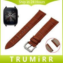 22mm Sangle De Dégagement rapide pour Asus ZenWatch 1 2 Hommes WI500Q WI501Q LG G Watch W100 W110 Urbane W150 Véritable Bande de Cuir Bracelet