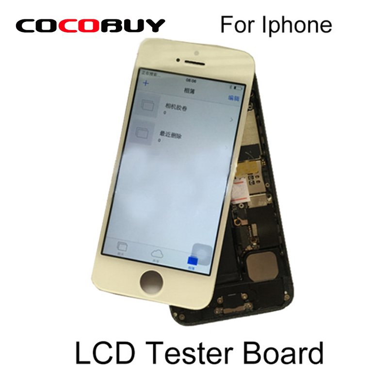 LCD Screen Tester Board with Back Housing Cover for Iphone 5S 6G 6Plus 6S 6S Plus 7G 7Plus esk iphone7 plus 6plus 6с плюс фильм артефакт для mac 7 plus 6plus 6с plus 5 5 yingcun jm176 повезло красный