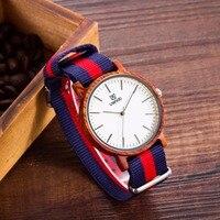 2016 Top Brand UWOOD Men S Bamboo Wooden Bamboo Sport Watch Quartz Nylon Strap Casual Watches