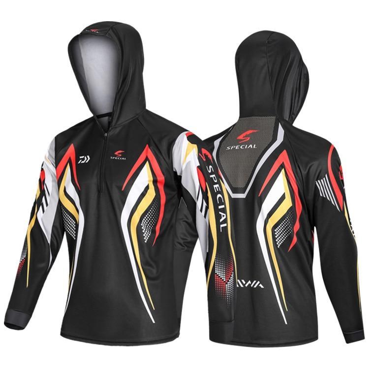 DAIWA летняя одежда для рыбалки куртка с капюшоном водонепроницаемое быстросохнущее пальто рубашка для рыбалки для пеших прогулок велосипедная одежда для рыбалки - Цвет: 11