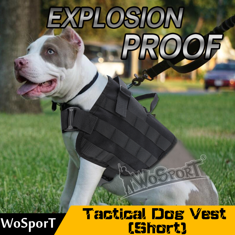 WoSporT Tactical Army Dog Training Molle Outdoor Military SWAT Vest Load Bearing Harness Hunting Combat Pet Jacket