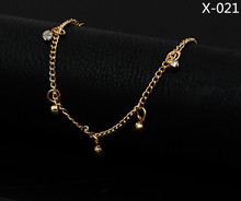2016 Fashion Sexy Gold color crystal ankle bracelet Toe Slave Foot foot Jewelry Chain Sandal Beach anklets for women 021