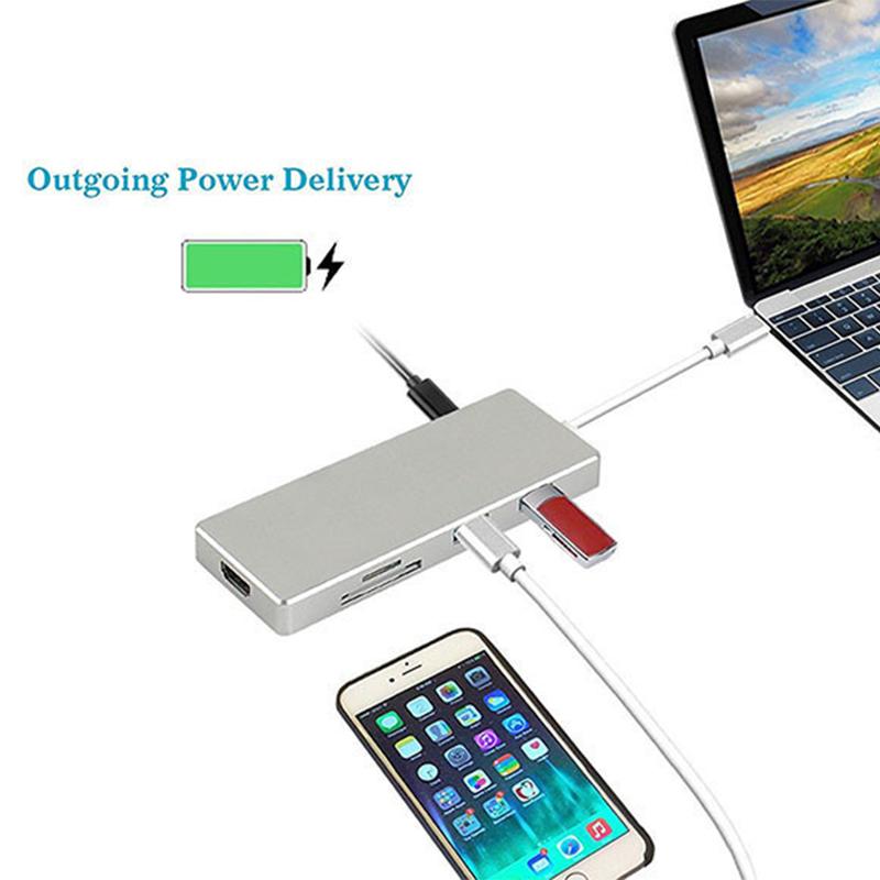высокое тип качество по HDMI к OTG кабель зарядить адаптер с USB3.0 концентратор сплиттер для SD/TF кард-ридер для яблоко MacBook