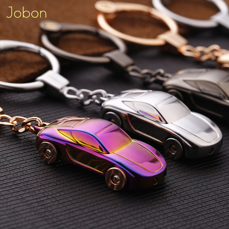 Jobon Custom Lettering KeyChain LED Lights KeyChains Customize Personalized Gift For Car Key Chain Holder Zinc Alloy Pendant
