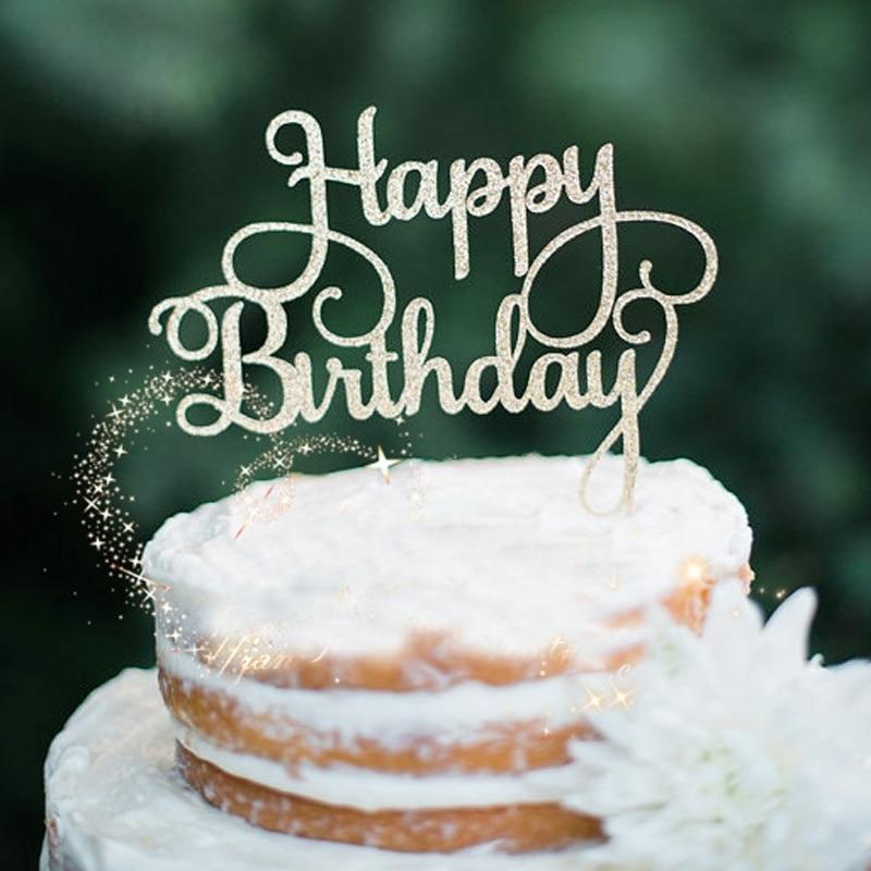 Aliexpresscom Buy Happy Birthday Party Cake Toppers Fashion