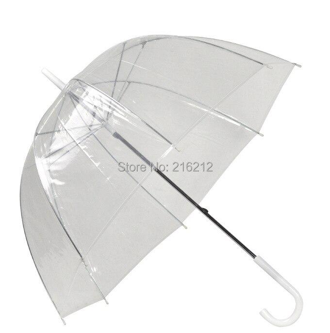 """10 قطع 34 """"كبيرة واضحة لطيف فقاعة العميق مظلّة على شكل قُبّة القيل والقال فتاة الرياح المقاومة شفافة مقبض طويل النساء مظلة-في مظلات من المنزل والحديقة على  مجموعة 3"""