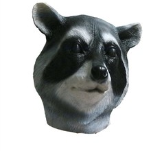 Hot Selling Carnival Full Face Party Costume Latex Realisic Raccoon Mask for Halloween Cosplay