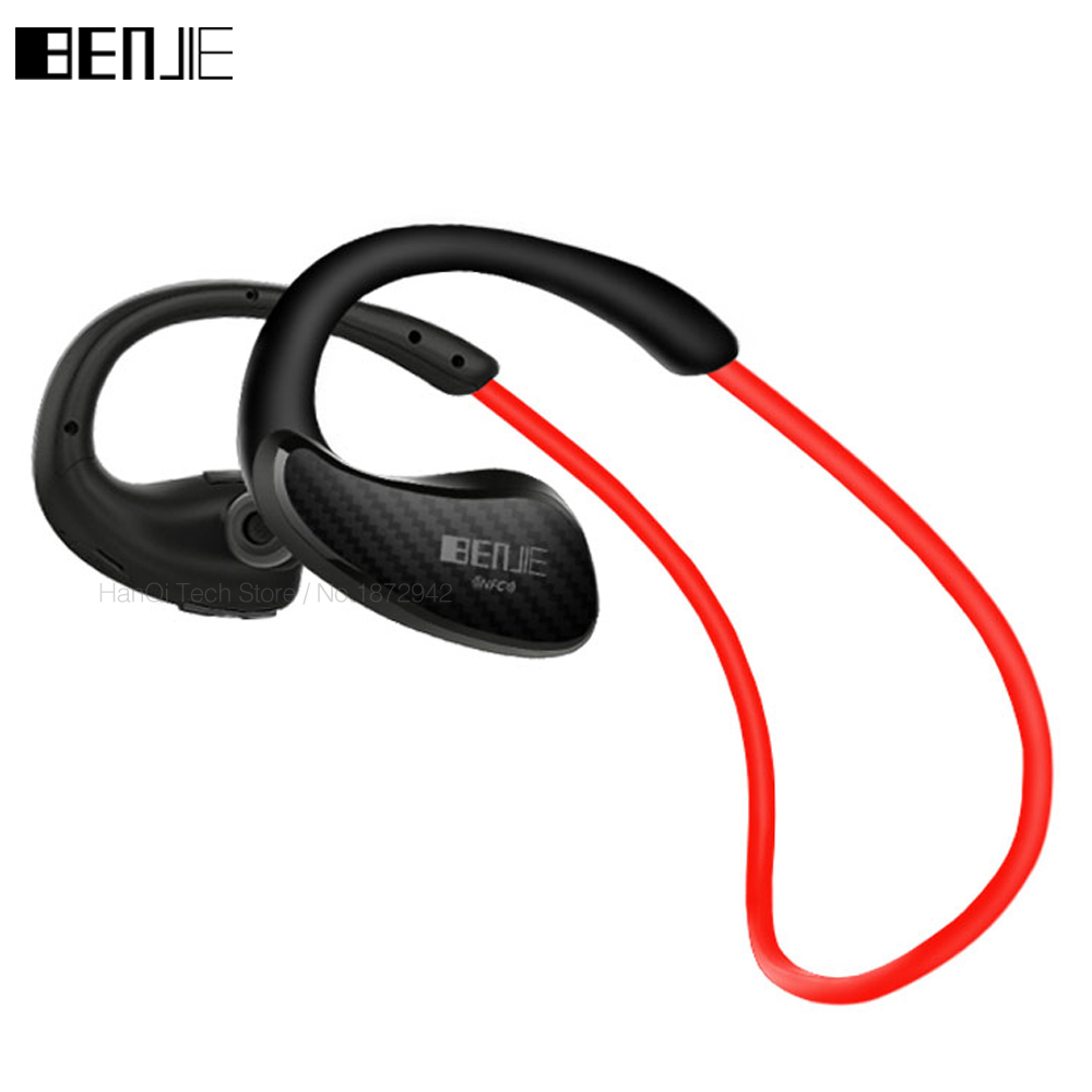 New Benjie Sport Running Bluetooth 4.1 Headse Wireless Headphone With Mic AptX IPX4 Super Bass Earphone for iPhone Android Phone