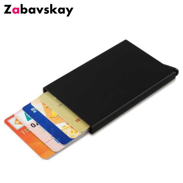 Business credit card holder wallet metal case safe wallet aluminum business credit card holder wallet metal case safe wallet aluminum blocking card case protect travel mini reheart Choice Image
