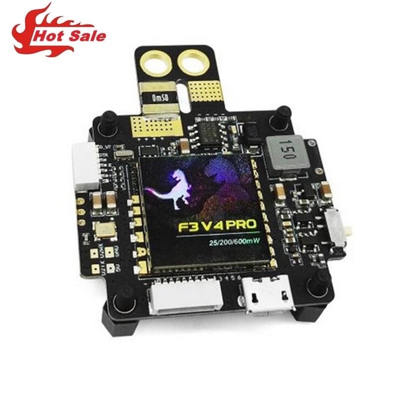 F3 V4 Flight Control AIO 25mW/200mW/600mW Switchable OSD BEC PDB Current Sensor Transmitter For RC Model Quadcopter Frame f3 v4 flight control board aio 25mw 200mw 600mw switchable transmitter osd bec pdb current sensor