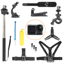 for DJI Osmo Action Tripod Selfie Stick Bicycle Clip Wrist Neck Strap Head Chest Belt Diving Buoyant Bar Backpack