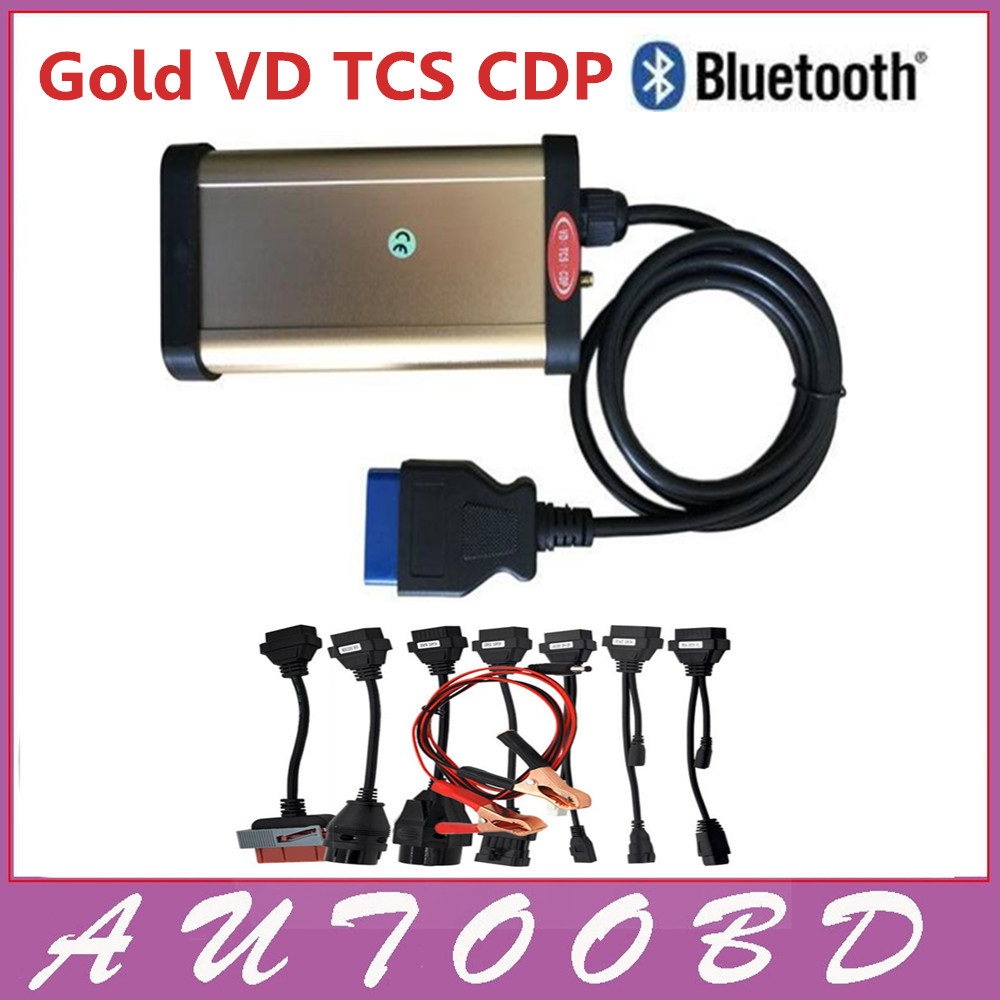 2013.R3 with Keygen VD TCS cdp pro plus bluetooth auto diagnostic tools +full all 8 car cables- dhl free shipping dhl freeship vd tcs cdp single board multidiag pro with bluetooth 2014 r2 keygen 8 car cable car truck generic diagnostic tool