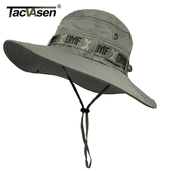 TACVASEN Army Men Tactical Sniper Hats Sun Boonie Hat Summer Sun Protection Cap Men's Military Fish Hunt Hats Caps TD-YWYG-001 1