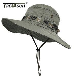 Image 2 - Тактические мужские тактические снайперские шляпы TACVASEN, шляпа ведро с рыбой, летняя шляпа от солнца, шляпа для сафари, военные походные охотничьи шапки