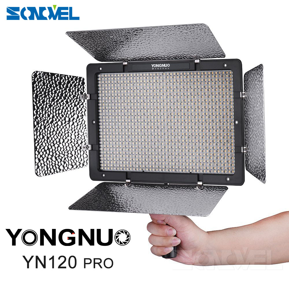 Yongnuo YN1200 Pro LED Video Light with 3200K to 5500K Adjustable Color Temprature for Canon Nikon Pentax SLR Camera Camcorders yongnuo yn300 air 3200k 5500k yn 300 air pro led camera video light with np f550 battery and charger for canon nikon