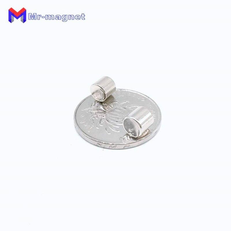 Купить с кэшбэком 2000pcs 6 x 6 mm Neodymium magnet industry N35 6*6 magnets mini round permanent rare earth NdFeB D6x6 mm magnet super strong 6x6