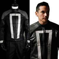 Ghost Rider Costume Agents of Shield S.H.I.E.L.D Cosplay Costume Jacket+Gloves Custom Made for Both Men and Women