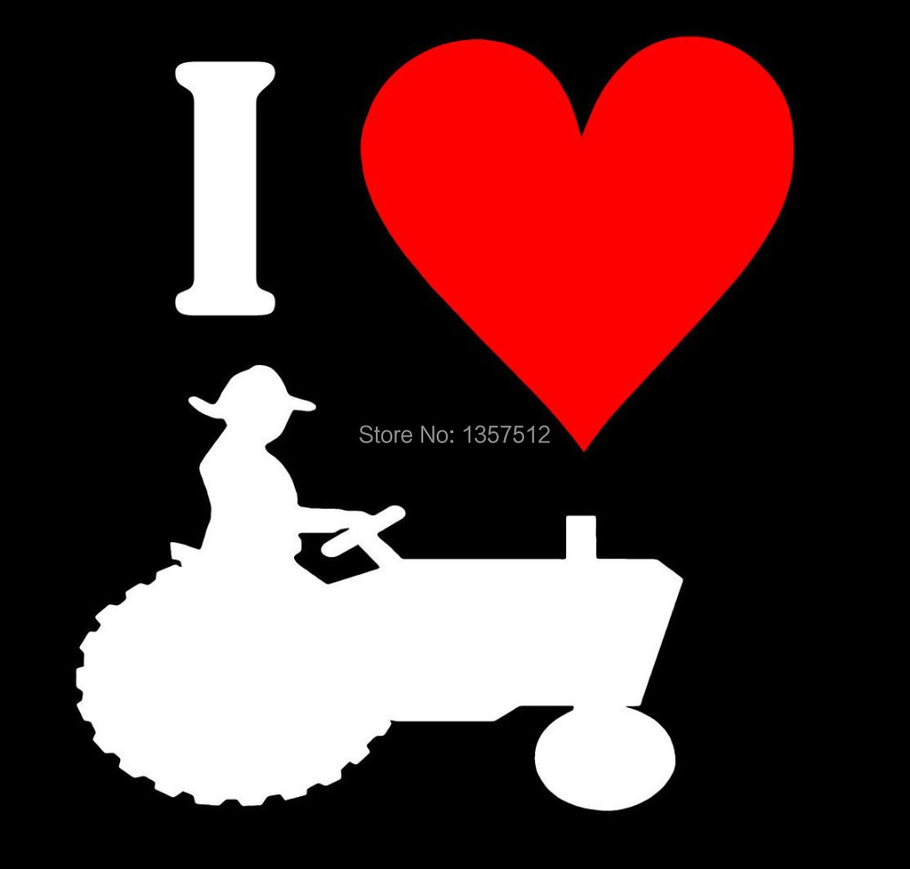 Hot sale i love my tractor farming sticker for car window truck suv bumper auto door kayak art wall die cut vinyl decal 9 colors on aliexpress com alibaba