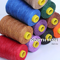 NORTH FISH Economical 1mm Thai Waxed Polyester Cord Wax Beading String Thread for Knotting Jewelry 300M