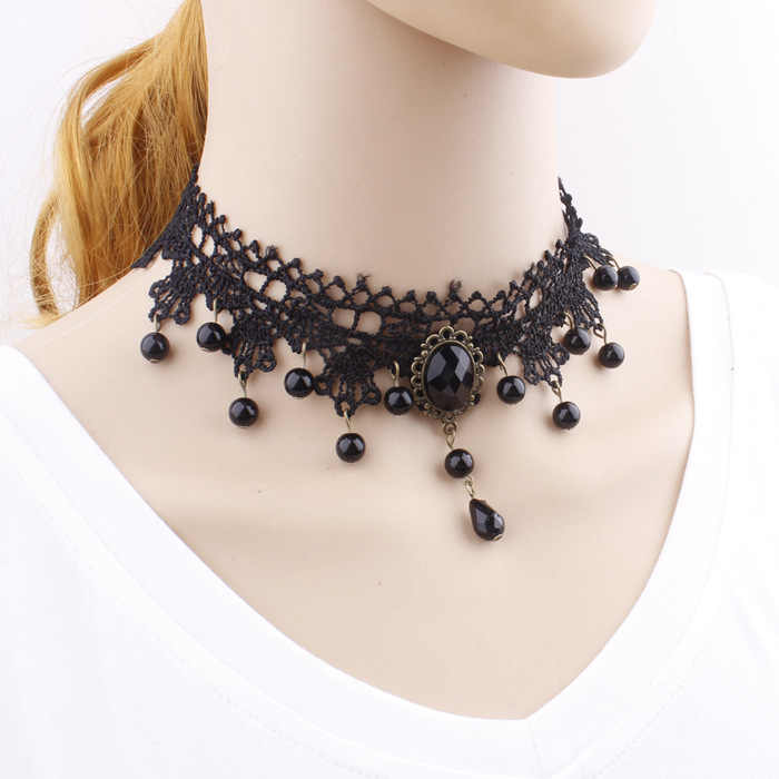 YIERMEFashion Black Velvet Choker Necklace for Women Statement Necklaces & Pendants Bijoux Femme Collier Jewelry Collares Mujer