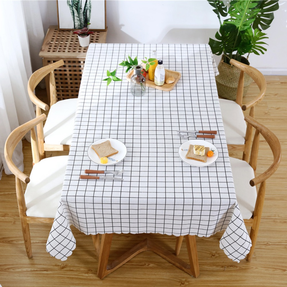European Country Style Linen Tablecloth Geometry Print ...