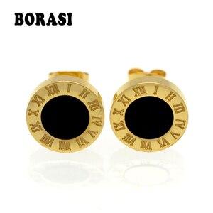 New Gold/Rose/Silver Color Stud Earrings Fashion Famous Brand Jewelry Wedding Party Earrings For Women Lady Men Earrings Gift