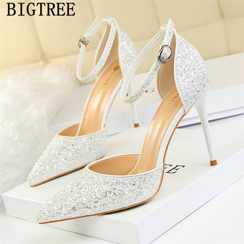 new arrival 2019 mary Jane shoes glitter heels bigtree shoes women pumps stiletto wedding shoes bride red heels tacones mujer new arrival 2019 mary Jane shoes glitter heels bigtree shoes women pumps stiletto wedding shoes bride red heels tacones mujer