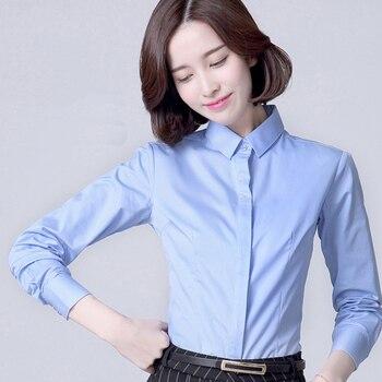 5bd742976 Formal de moda mujeres ropa 2019 nuevo manga larga profesional blusa  elegante OL señoras de la Oficina ropa de trabajo Plus tamaño