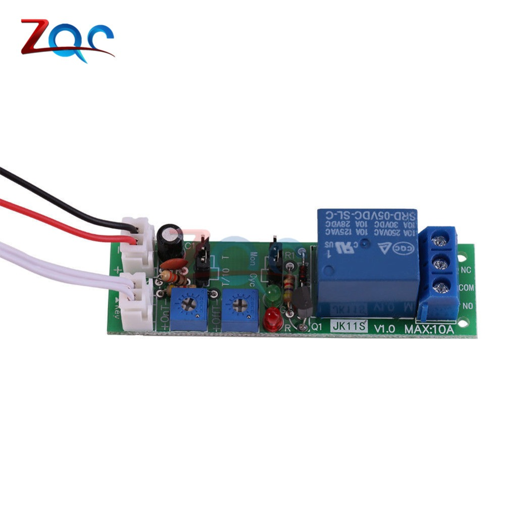 Ws16 Dc 12v Infinite Cycle Delay Timing Time Relay Timer Control On Circuit Off Loop Switch Module Double Adjustable 0120 Minutes In Relays From Home Improvement