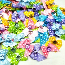 50pcs Mix Color  Ribbon Bows Handmade Flowers DIY Crafts Apparel Accessories Sewing Appliques A629
