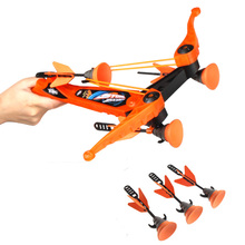 New 2016 Fashion Children Kids Fun Game Outdoor Sport Toys Zing Air Hunterz Z Tek Crossbow + Soft Suction Cup 3 Arrows Orange