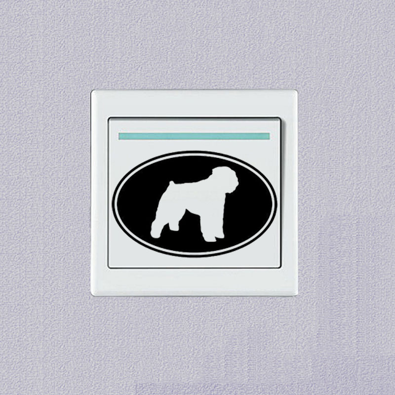 Bouvier Des Flandres Dog Creative Cartoon Fashion Switch Stickers Vinyl Decoration Wall Decal 2SS0643
