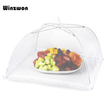 Household Food Cover Anti Mosquito Fly Resistant Lace Net Foldable Umbrella Food Cover Net For Home Outside Picnic Cookout Use(China)