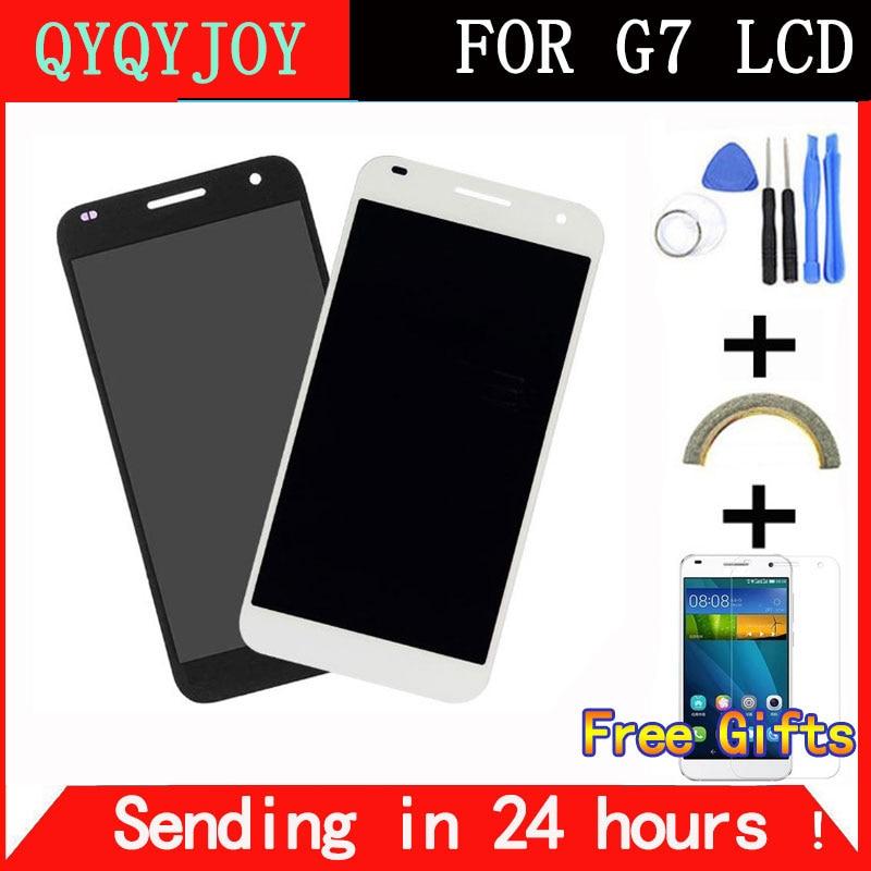 imágenes para QYQYJOY Mejor Calidad Grado AAA para Huawei G7 Pantalla LCD con Pantalla Táctil Digitalizador Asamblea con Marco