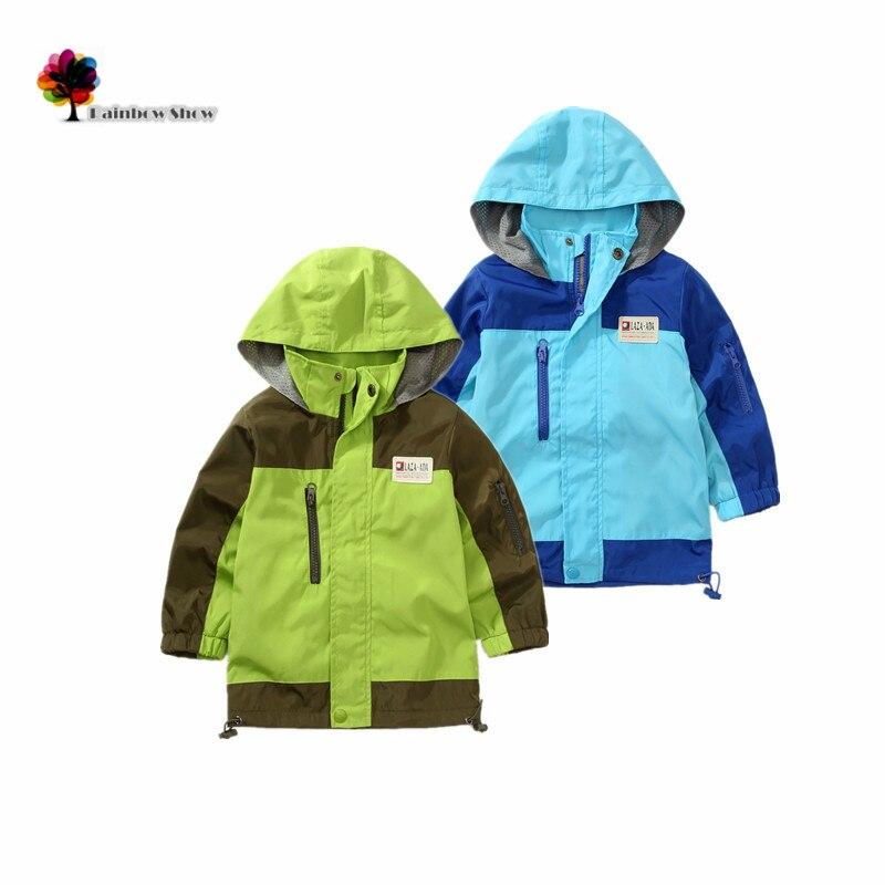 Новая детская одежда Обувь для мальчиков Осень и весна классическая Водонепроницаемость и ветрозащитный лоскутное хлопка сетки подкладка ...