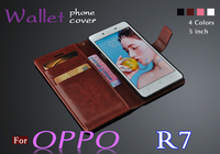 OPPO R7 Case Cover High Quality Flip Wallets Mobile Phone Leather Cover For Oppo R7t Cell