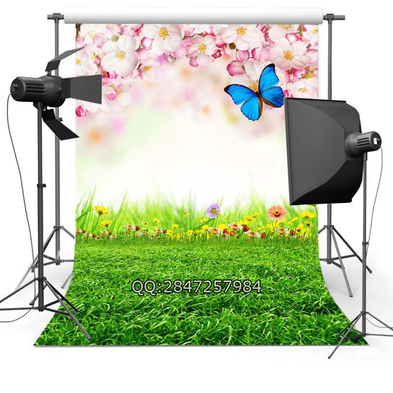 Thin Vinyl photography background Customize spring flowers  Backdrops Digital Printing Background for photo Studio F-2349