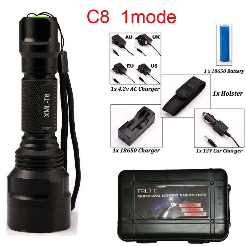 C8 Tactique LED lampe de Poche T6/L2/COB + T6 Torche 10000Lum pour L'équitation Camping Randonnée Avec côté COB travail lumière conception Par 18650 Battey