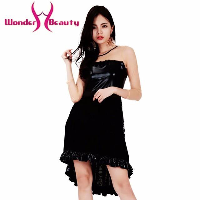 2c4eb33369d Merveille la beauté de mode Femmes Robes Casual Long Black Manches Longues  O Cou Faux En