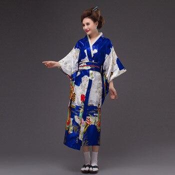 41e47b91a 2019 verano alto rojo japonés Nacional Mujer kimono tradicional yukata sin  obi vintage vestido de ...