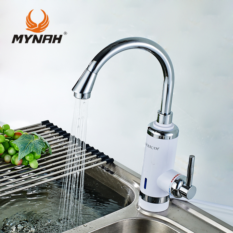 Russia free shipping High Quality Kitchen Faucet Electric Instantaneous Water Heater Instant Hot Water Faucet EU Plug