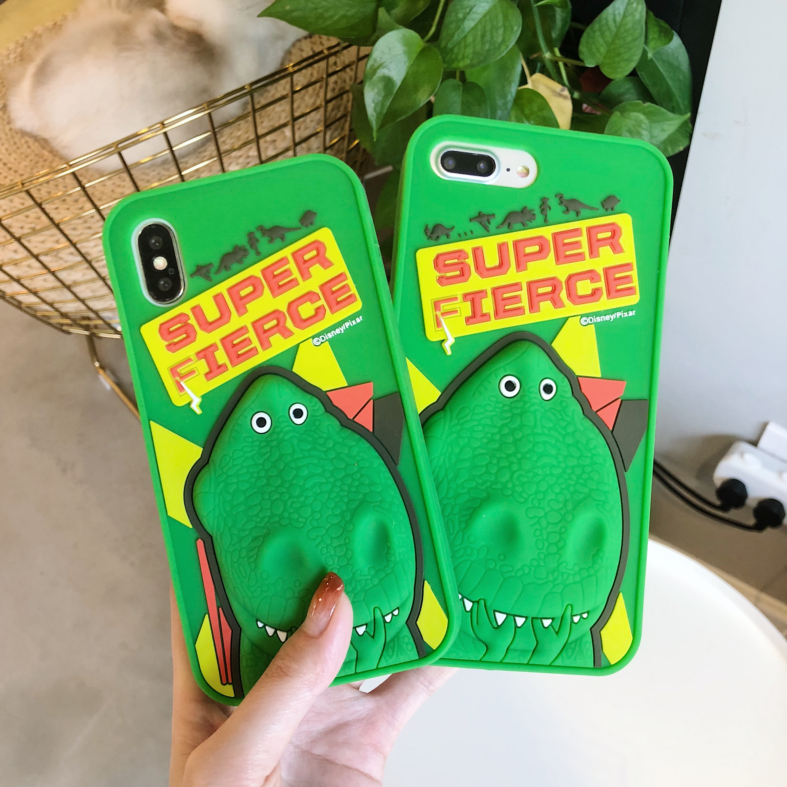 Silicone <font><b>Cases</b></font> for Apple <font><b>Iphone</b></font> 5s Se 6 6s <font><b>7</b></font> 8 Plus Cartoon Cute Toy Story Rex The Green <font><b>Dinosaur</b></font> Cover for <font><b>IPhone</b></font> X XR XS MAX image