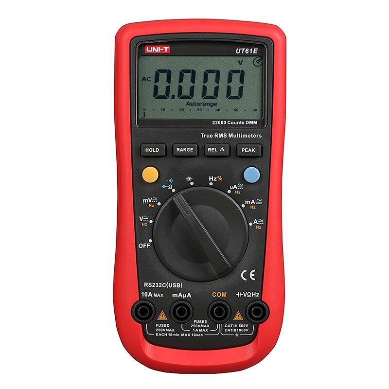 UNI-T UT61E Handheld Multimeter Ammeter Ohm Volt  Digital Universal Meter LCD Count 22000 AVO Meter High Precision