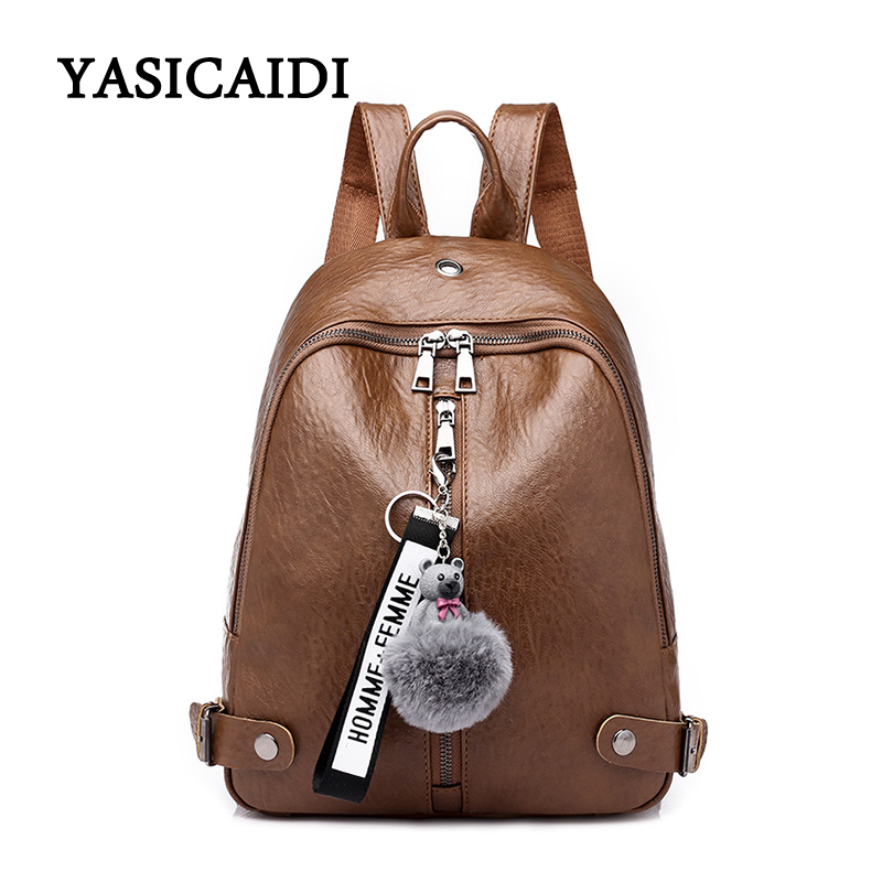 High Quality Leather Women Backpacks Oil Leather School Bags For Girls Large Capacity Backpack Bag Full Ball School Bag mochila backpack women school bags brand backpacks women high quality large capacity teenager backpacks for teenage girls student bags